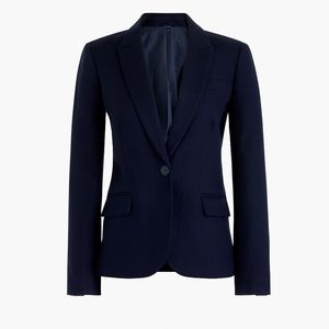 New JCREW Size 6 Navy Cotton Work Blazer
